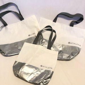 Bundle lot three Athleta reusable tote bags